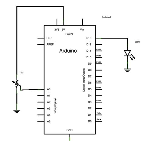 variable resistor circuit exles potentiometer or variable resistor led code use arduino for projects