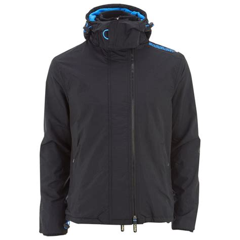 Jaket Windcheater Blue Black Chelsea superdry s pop zip hooded arctic windcheater jacket black denby blue clothing thehut