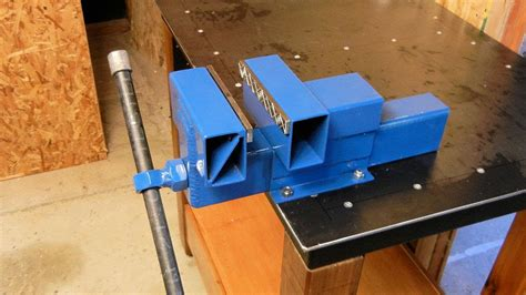 homemade bench vise youtube