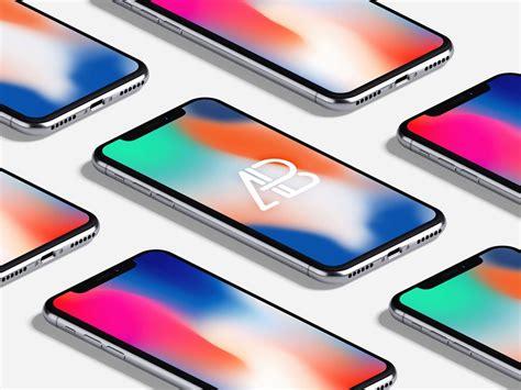 isometric iphone  mockup mockupworld