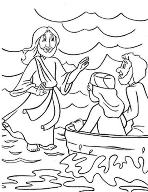 coloring page jesus walks on water jesus walks on the water