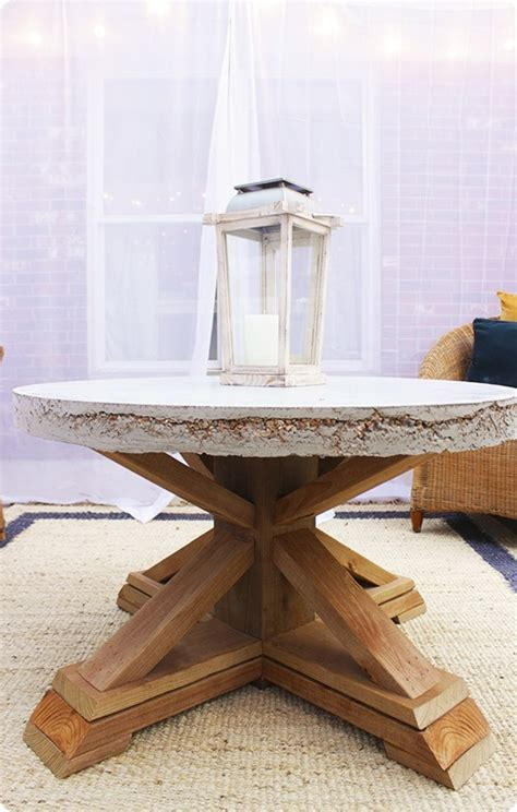 diy coffee table base concrete top outdoor coffee table