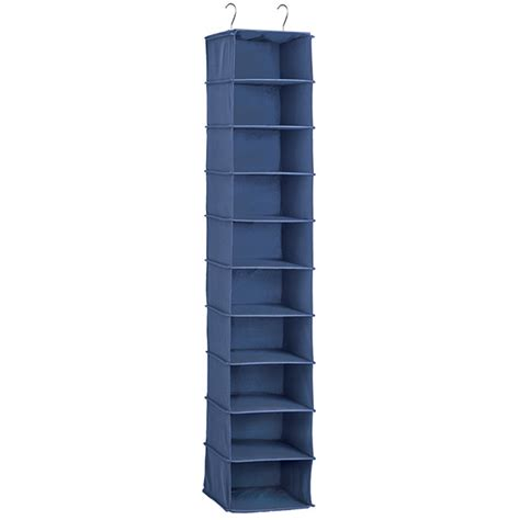 shoe hanging storage indigo 10 compartment hanging shoe organizer the