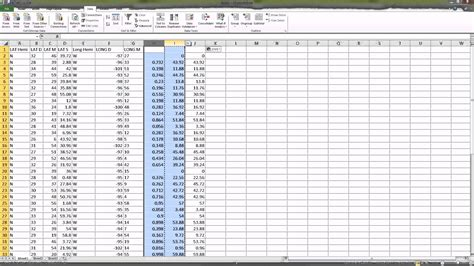 Table Hours by Converting Lat Decimal Degrees To Degree Minute