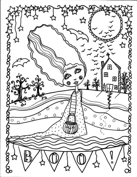 halloween coloring pages advanced halloween coloring book page fantasy fantasie фэнтези