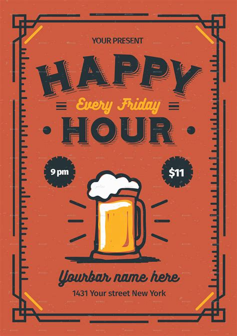 happy hour menu template happy hour flyer by lilynthesweetpea graphicriver