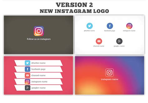 Follow Us On Social Media 4 Style By Ouss Videohive Follow Us On Instagram And Template