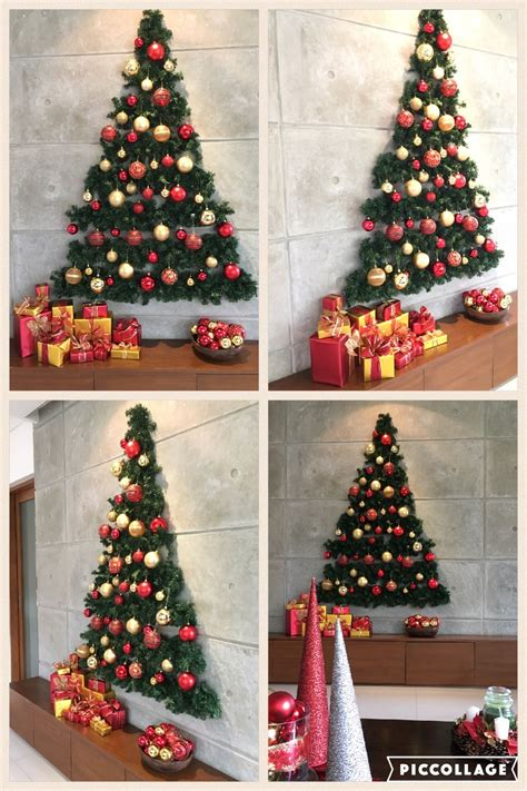 flat wall christmas tree christmas decor pinterest