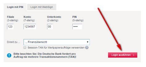 deutsche bank banking probleme deutsche bank login login seite
