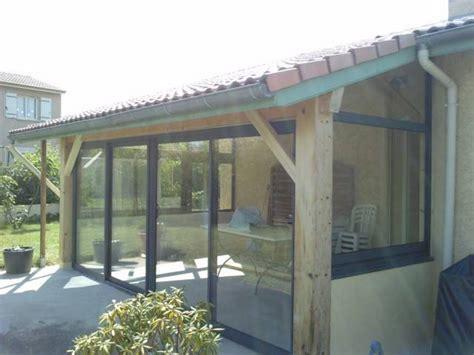 Comment Fermer Sa Terrasse by Fermeture D Une Terrasse Bois Avec Des Chassis Aluminium