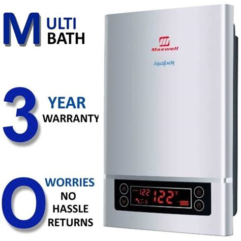 Electric Tankless Hot Water Heater   Whole House   4 GPM   18kW   220V   Maxwell