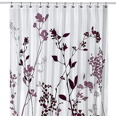 purple and gray shower curtain buy reflections 72 inch x 96 inch fabric shower curtain in