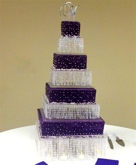 purple bling wedding cake fabulous bling wedding cake in a eggplant purple with