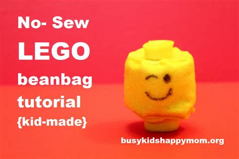 lego head tutorial lego beanbag tutorial 10 year old friendly busy kids