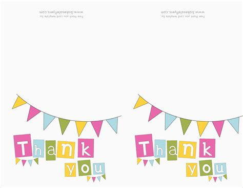 printable thank you card template thank you card template free free