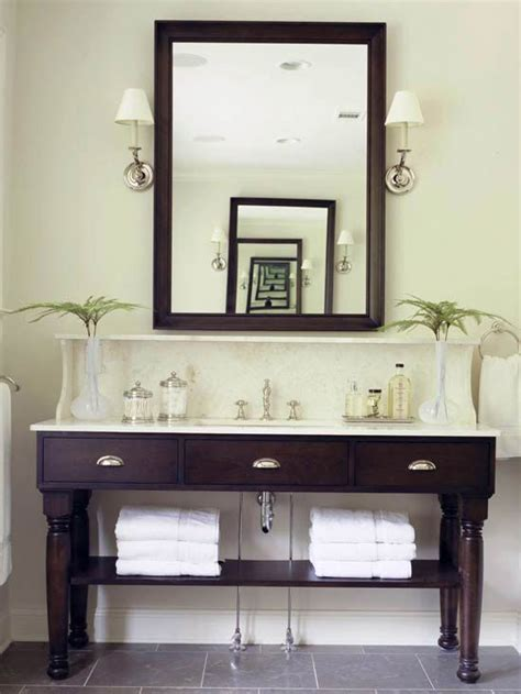 open vanity bath storage