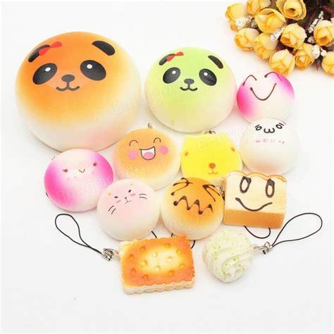Squishy Mini Random Isi 5 12pcs mini random squishy soft panda bread donut buns macaroon phone charms straps kit sale