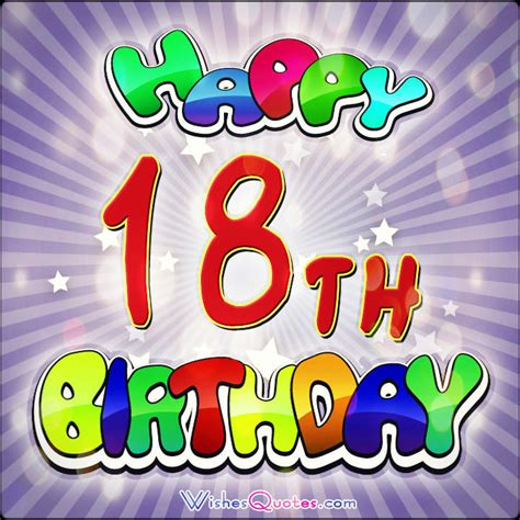 Happy 18 Birthday Wishes 18 Birthday Quotes For Son Quotesgram