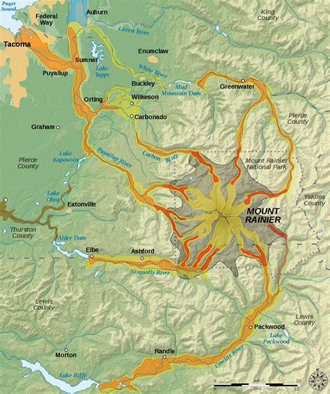 St Alea Salem mount rainier volcano lahar warning system
