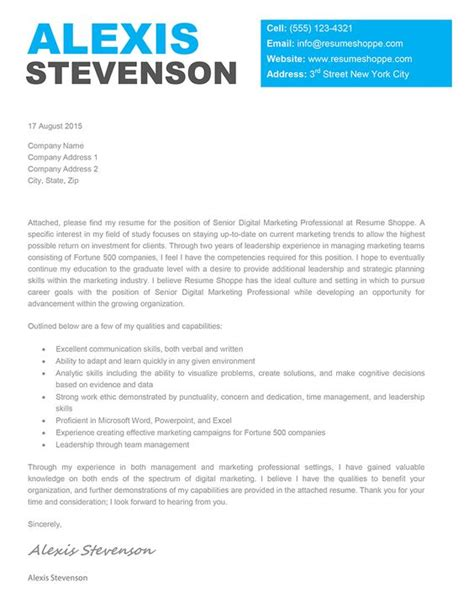the cover letter template is an effective creative