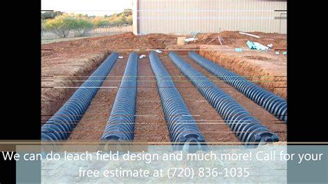leach bed septic systems install denver leach field sump pump
