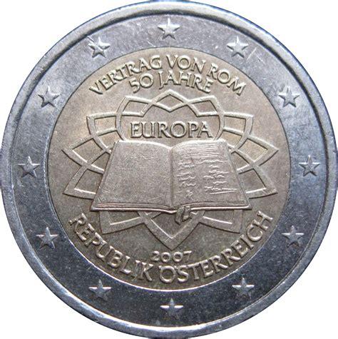 Inverted Living 2 Euro Treaty Of Rome Austria Numista