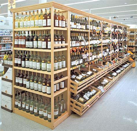 wine and liquor wood display store fixtures newood