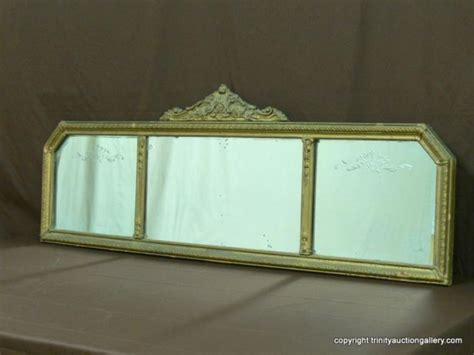 tri pane nurre mantle sofa mirror antique