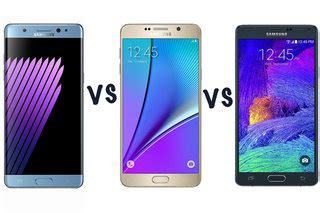 samsung galaxy note 7 vs note 5 vs note 4: what's the