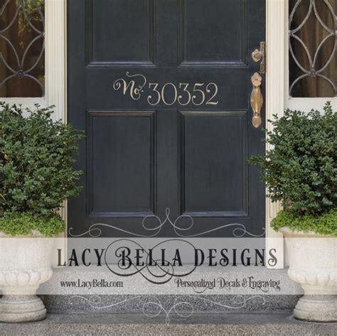 Front Door Number Signs Quot House Number Quot Www Lacybella Lacy Front Door