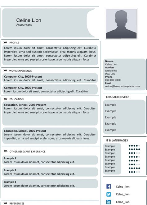 advanced cv template creative cv templates land the with our free word