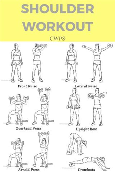 best 25 shoulder workout ideas on