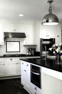 White And Black Kitchens Design Always Stylish Classic Color Combinations