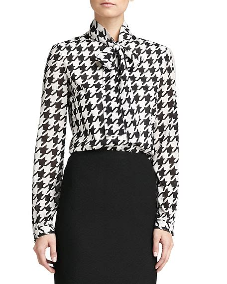 Blouse Houndstooth st collection marco houndstooth blouse caviar
