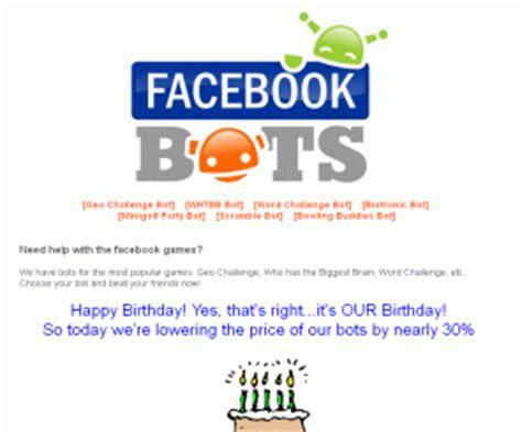 facebook bots.com: facebook bots, cheats & hacks for