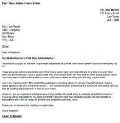 Part Time Admin Cover Letter Example   icover.org.uk