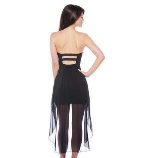 Fashion Cup027 ax women s fitted cup chiffon drop back black dress exclusive
