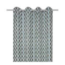 rideau diabolo gris bleu l 140 x h 260 cm inspire