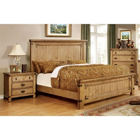 3 piece bedroom sets furniture of america sesco 3 piece queen panel bedroom set