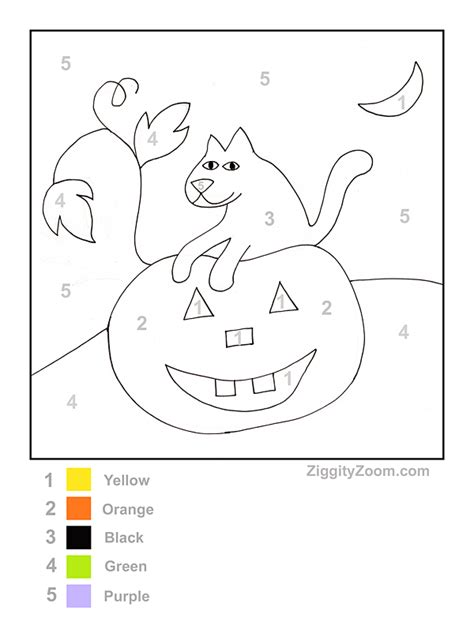 halloween coloring pages by number color by number pumpkin2 kids pinterest worksheets