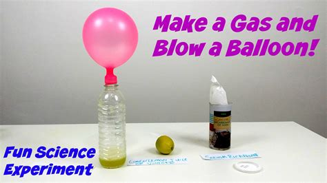 Hair Dryer Air Balloon Experiment make a gas and a balloon amazing science