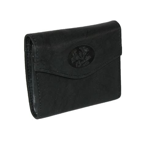 Mini Wallet womens leather mini trifold wallet with floral emboss by