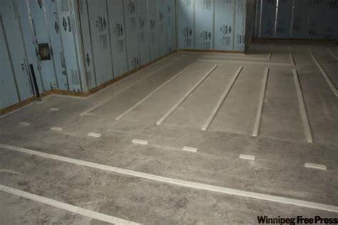 Floor Sleepers by Say Goodbye To Basement Mould Winnipeg Free Press Homes
