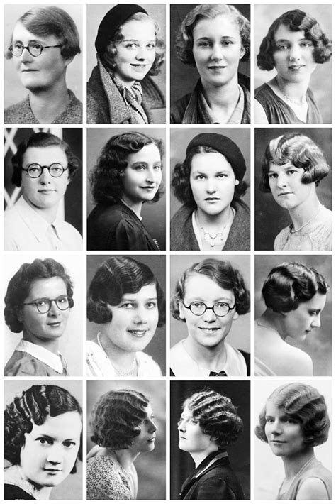 history about hairstyles 1930 s hairstyles a collection of 1930 s the vintage