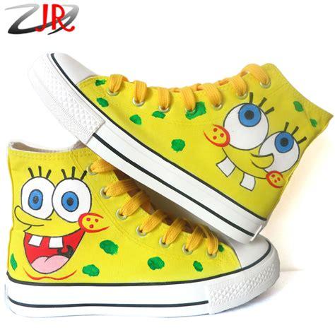 original spongebob shoes for painted canvas shoe
