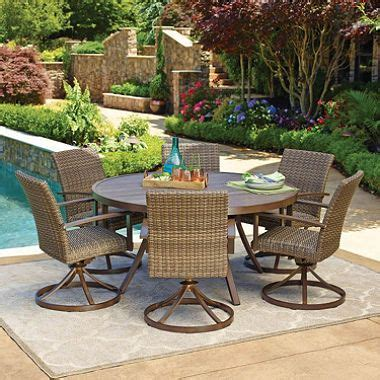 Member S Mark Agio Fremont 7 Piece Dining Set Dining Members Patio Furniture