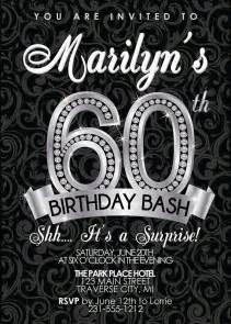 60th birthday invitation birthday invitation sixtieth invites