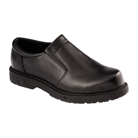 skechers s work shoes leather slip on 76083ew bwxv