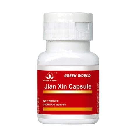 jual green world jian xin capsule herbal kesehatan jantung