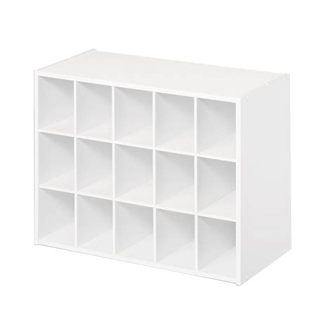 storage cubes for shoes shop closetmaid 15 white laminate storage cubes at lowes